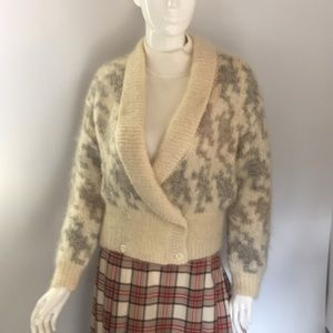 Vintage mohair mix Shaw cream cardigan